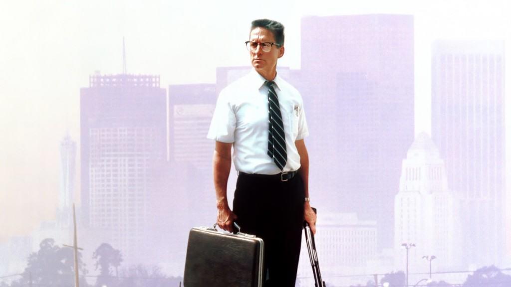 Michael Douglas as D-Fens, the anti-hero in Falling Down