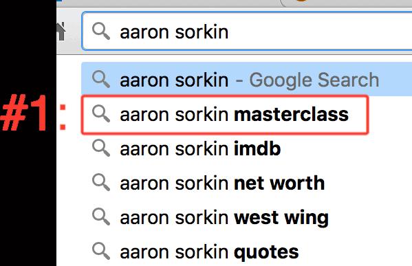aaron sorkin masterclass